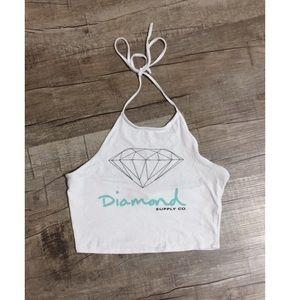 Diamond brand halter crop top